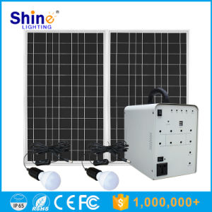 Hot Selling 100W Solar Panel Solar Home Lighting Generator System pictures & photos