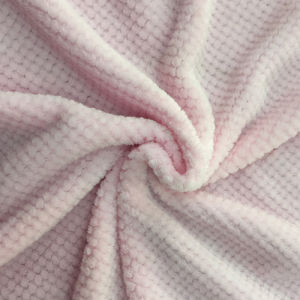 100% Polyester Jacquard Flannel Fleece pictures & photos