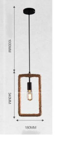 Retro-Style Hemp Rope Pendant Lamp/Innovative Hanging Lamp pictures & photos