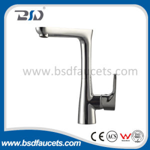 High Neck Deck Mounted fashion Wash Basin Faucet pictures & photos
