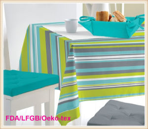 Printed Tablecloth with Nonwoven Backing (TJ0009-A) pictures & photos