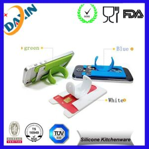 Hot Sale Factory Price Silicone Phone Stand with Card Holder pictures & photos
