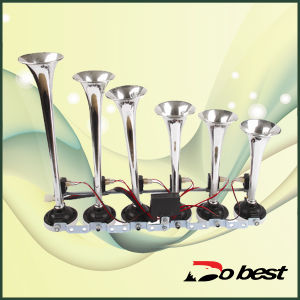 Chrome Triple Trumpet Boat Bus Air Horn pictures & photos