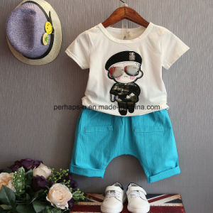 High Quality Printing Boys T Shirt Suit Children Wear pictures & photos