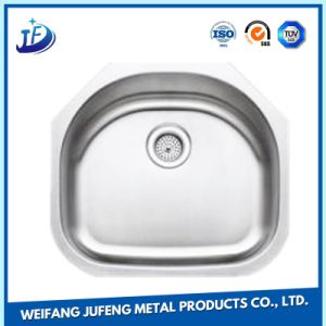 OEM Metal Punching Terminal Stamping Parts Stainless Steel Single Bowl Undermount Kitchen Sinks pictures & photos
