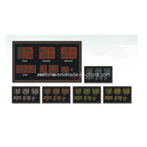 LED Digital Wall Calendar Clock with Radio Controll Function pictures & photos
