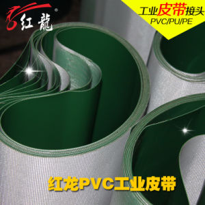 Manufacture of PVC Green Custom Conveyor Belt pictures & photos