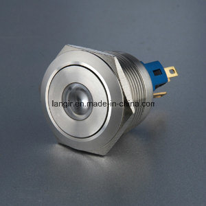 22mm Anti Vandal Momentary 1no1nc Metal Push Button Switch with Soldering Terminal (DOT Illuminated) pictures & photos