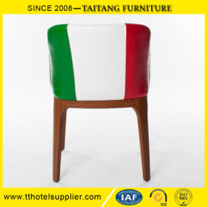 Restaurant PU Leather Dining Arm-Chair pictures & photos