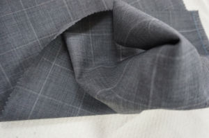 Wool Fabric for Suit Plaid