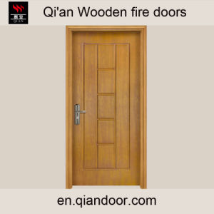 Fraxinus Mandshurica Fire-Rated Timber Door pictures & photos