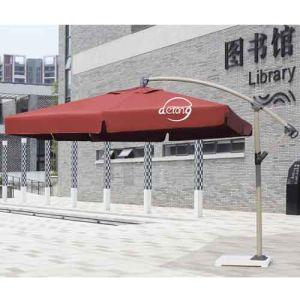 Wholesale Patio Sun Umbrella Banana Sun Parasol With Marble Base