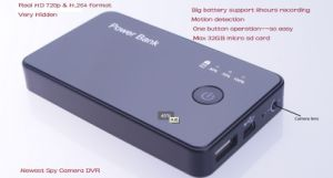 Portable Power Bank DVR Mini Camera with High Capacity Battery Qt-Sp007 pictures & photos