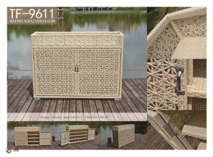Waterproof Resin Wicker Patio Home & Garden Rattan Storage Cabinet