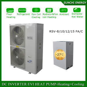 Sweden -25c Winter Radiator Heating 100~300sq Meter House R407c12kw/19kw/35kw/70kw/105kw Evi Cold Weather Heatpump Water Heater pictures & photos