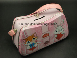 Handbag Shape Tin Box for Kids Using