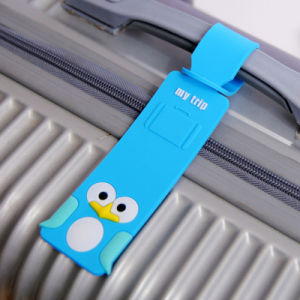 New PVC Luggage Tag with Cartoon Designs for Wholesale pictures & photos