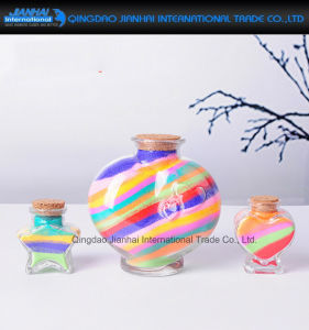 New Design Glass Quicksand Bottle with Cork for Gift pictures & photos