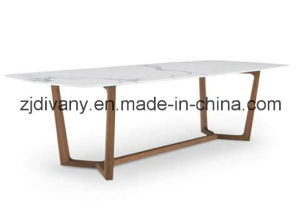 American Modern Furniture Marble Wood Oval Table (E-31) pictures & photos