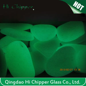 Green Colored Road Marking Glow Glass Pebbles pictures & photos
