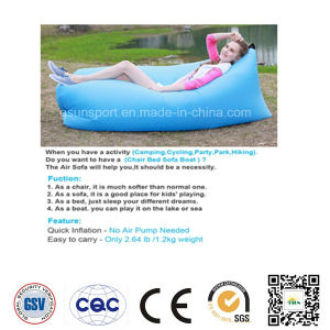 Outdoor Convenient Inflatable Lounger Nylon Fabric Sleeping Air Bag