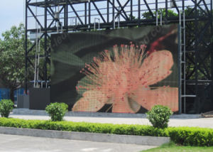 Outdoor/Indoor Full Color Mesh Outdoor Display LED Curtain with 500*1000mm Panel (P10, P8) pictures & photos