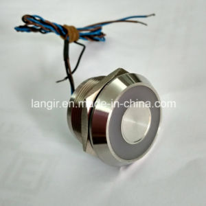 25mm Bi-Color Large Ring LED Stainless Steel 316L Latching Piezo Switch pictures & photos