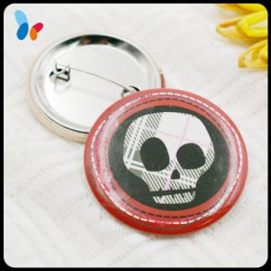 Custom Printing Skull Badge Alloy Metal Pin Badge for Clothes pictures & photos