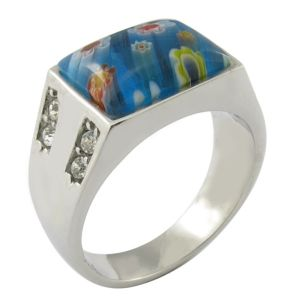 Hot Casting Stainless Steel Gemstone Ring pictures & photos