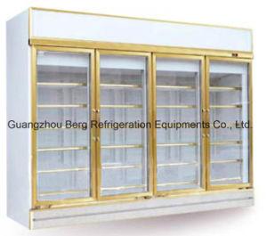 4 Door Soft Drink Display Glass Door Refrigerator with Ce pictures & photos