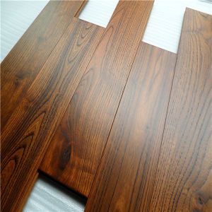 Antique Handscraped Deep Color Chinese Teak Hardwood Flooring