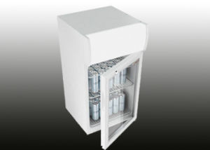 Hinged Glass Door Counter Top Mini Fridge pictures & photos