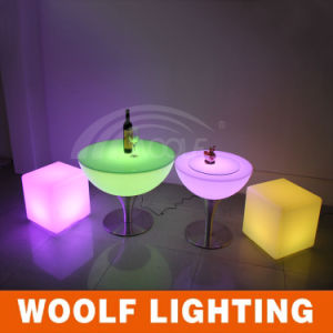 Metal Leg High Bar Table Rechargeable LED Bar Table pictures & photos