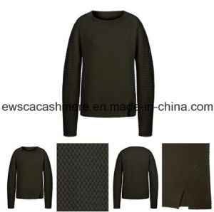 Women′s Pure Cashmere Knitwear with Weaven