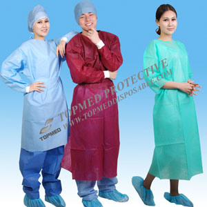 Surgery Wear Wholesale Hospital Gowns Disposable Surgical Gown pictures & photos