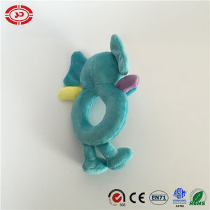 Baby Blue Fancy Elephant Soft Hand Rattle Toy pictures & photos