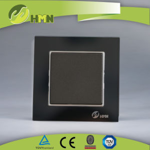 Ce/TUV/BV Certified EU Standard Black Thoughened Glass Switch pictures & photos