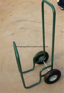 440 Lb Capacity Strong Utility Wooden Firewood Hand Truck Hand Trolley Cart pictures & photos