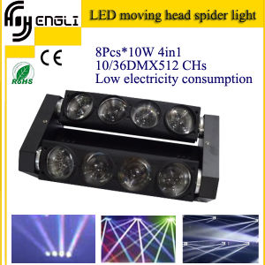 8*10W RGBW 4in1 LED Moving Head Effect Light (HL-017YT) pictures & photos