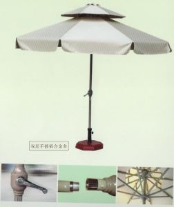 High Quality Double Layer Pation Umbrella with Crank Hand for Outdoor (JB810)