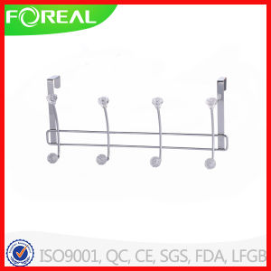 Over The Door Metal Wire 4 Hooks Clothes Hanger