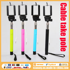 Colorful 2015 Newest Monopod Cable Take Pole for Selfie Stick pictures & photos