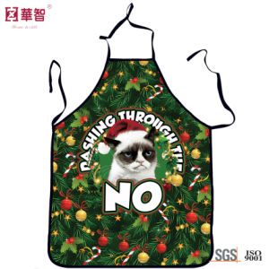 Christmas Style Polyester Kitchen Apron pictures & photos