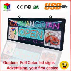 RGB Full Color LED Sign 18′′x40′′/ Support Scrolling Text LED Advertising Screen / Programmable Image Video Outdoor LED Display pictures & photos