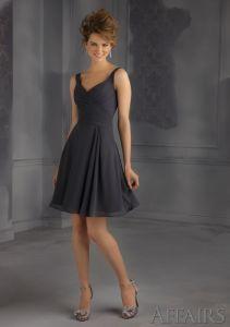 Chiffon Black Bridesmaid Fashion Dresses (FD14002) pictures & photos