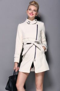 High Quality Casual Style Long Wool Wind Coat Dress for Women Outwear New 2014 Fashion Garment King-Size Coat Gm2006 pictures & photos