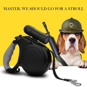 Retractable Dog Leash with 9 LED Detachable Flashlight Durable, Thick & Adjustable 20 Foot Leashes pictures & photos