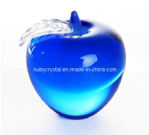 Blue Apple Paperweight in Crystal Souvenir Gift pictures & photos