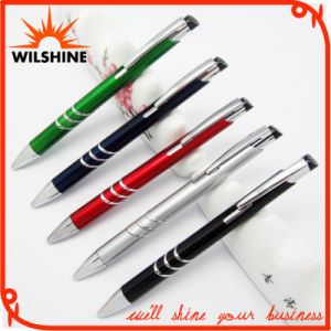 Popular Promotional Plastic Ball Pen with Metallic Paint (BP0206) pictures & photos