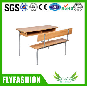 Combo Wood Double School Desk and Chair (SF-09D) pictures & photos